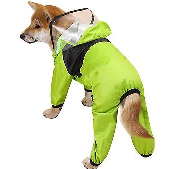 Pet Pu Waterproof All-inclusive Hooded Raincoat