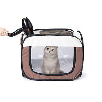 Pet Drying Box Foldable Pet Dry Room Grooming House Pet Bath Hair Dryer Cage