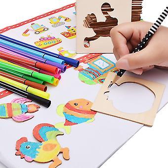 Lasten piirustuslelusarja Boxed Coloring Board Luova Varhaiskasvatus Pojat ja tytöt Koulutus Lelut Maalaustyökalut
