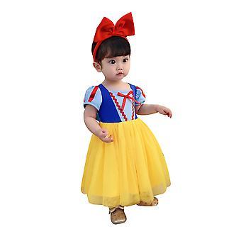 Robe d'anniversaire cosplay de costume gonflé de princesse de petite fille