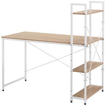 Bureau d'ordinateur avec étagère de stockage à 4 niveaux