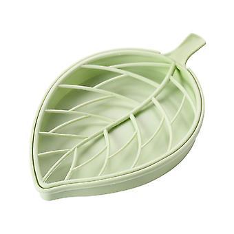 Leaf-shaped Soap Holder, Plastic Draining Soap Box, Soap Saver, Bathroom