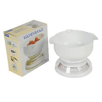 Bilancia da cucina cucina eleganza bianca Max. 5kg con ciotola quadrante di facile lettura