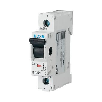 Caja de 1 polos 1-módulo interruptor principal para distribución 32A 230VDC Eaton es-32/1