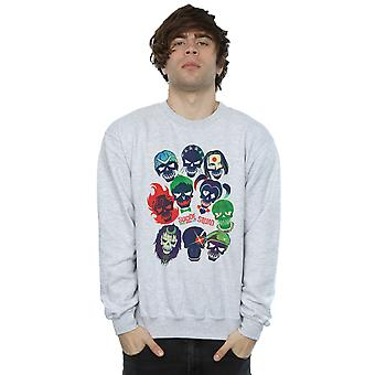 Suicide Squad Men's Band Of Skulls Filled Sweatshirt