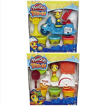 Play-Doh Stadt Mini Fahrzeug mit Teig, Zeichen & Zubehör - 1 geliefert