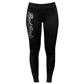 Bad Girl Logo lange Fitness panty - zwart