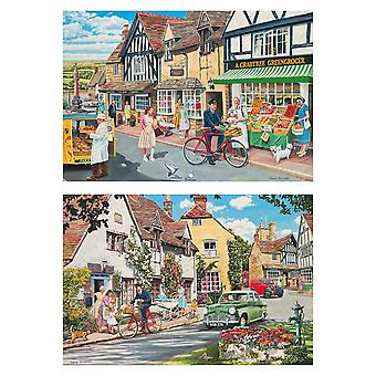 Gibsons The Postman's Round 2 Jigsaw Puzzles (2 x 500 Pieces)