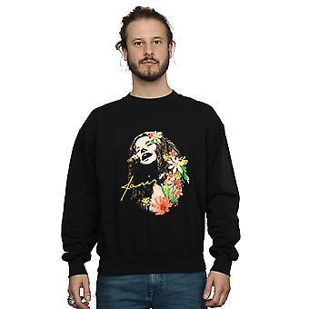 Janis Joplin Men's Floral Pattern Sweatshirt