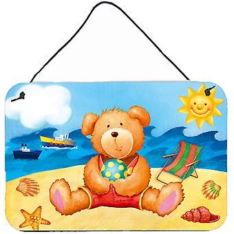 Teddy Bear op het strand muur of deur hangen Prints