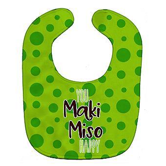 Каролинских сокровища BB8813BIB суши вы Maki мисо Счастливый ребенок нагрудник