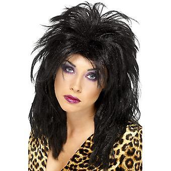 80 'er superstar pop stjerne paryk sort