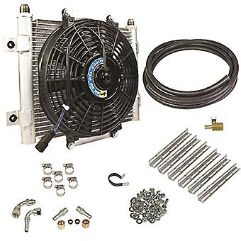 BD Diesel 1030606-1/2 Xtruded Auxiliary Transmission Oil Cooler Kit 1/2in. Tubing Incl. Cooler/Brackets/Wiring Harness/F