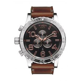 Nixon The 51-30 Chrono Leather Gray Rose Gold Herrenchronograph (A1242064)