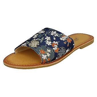 Mesdames Savannah à motifs Mule sandales F00095