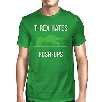 T-Rex Push Ups verde para hombre algodón Tee regalo chistoso Tee para él