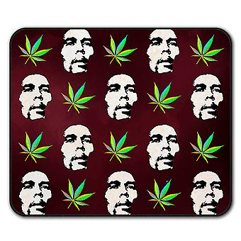 Marley Marihuana Rasta Anti-Rutsch-Mauspad Pad 24 x 20 cm | Wellcoda