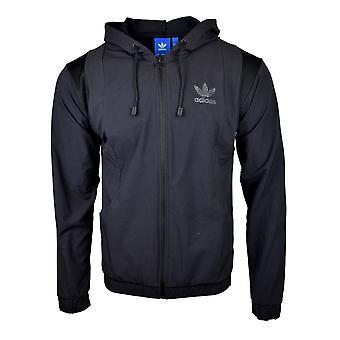 Adidas Originals Mens Black Tact Zip Hooded Jacket AY9282