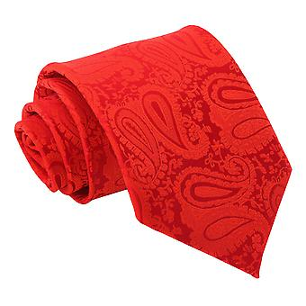 Red Paisley Classic Tie