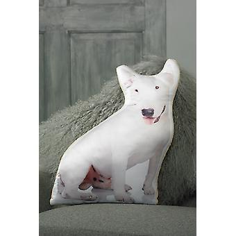 Adorable english bull terrier shaped cushion