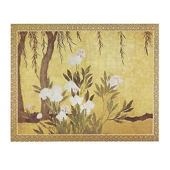 والفاوانيا وطباعة ملصق الصفصاف بالمدرسة هاسجاوا سينتو 16 المبكر (34 × 26)