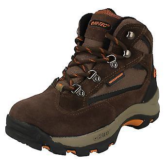 Junior Boys Hi-Tec Casual Waterproof Lace Up Walking Boots Kruger JR