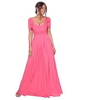 KRISP kvinder på off skulder aften bryllup lang brudepige kjole maxi prom dress 8-20