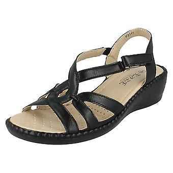 Ladies Eaze Comfort Low Wedge Sandals F3111