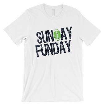 FUNDAY الأحد تي شيرت رجالي مضحك سياتل اليوم لعبة الهدايا المحملة القميص