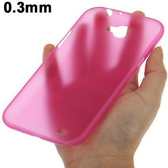 Suoja kattaa tapauksessa ultra ohut 0,3 mm mobiili Samsung Galaxy touch 2 N7100 vaaleanpunainen läpinäkyvä