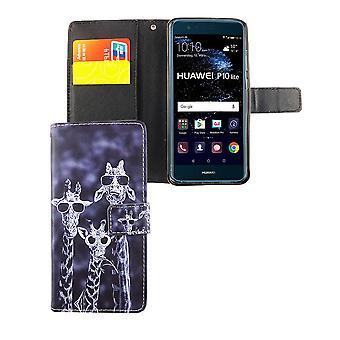 Handyhülle Tasche für Handy Huawei P10 Lite 3 Giraffen