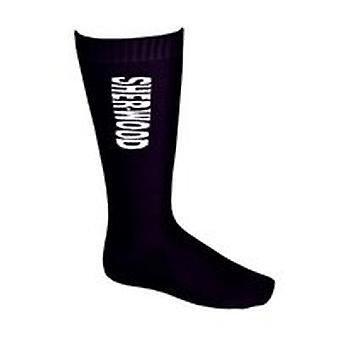 SHER-WOOD Performance Skate Sock, lang - blk (2er Pack)