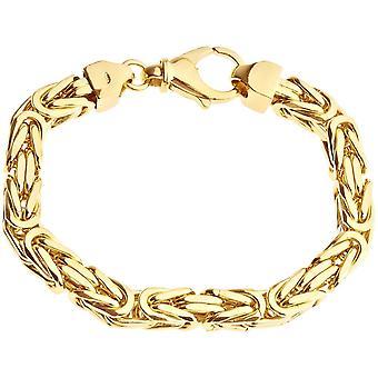 Sterling 925 Silver King bracelet - DOTTE 8x8mm gold