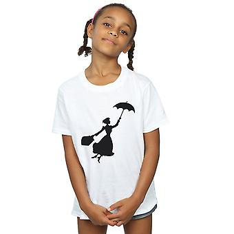 Disney Girls Mary Poppins Flying Silhouette T-Shirt