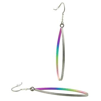 TI2 birnenförmig Titanium Tropfen Ohrringe - mehrfarbig