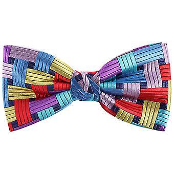 Knightsbridge Neckwear Rectangles Silk Bow Tie - Multi-colour