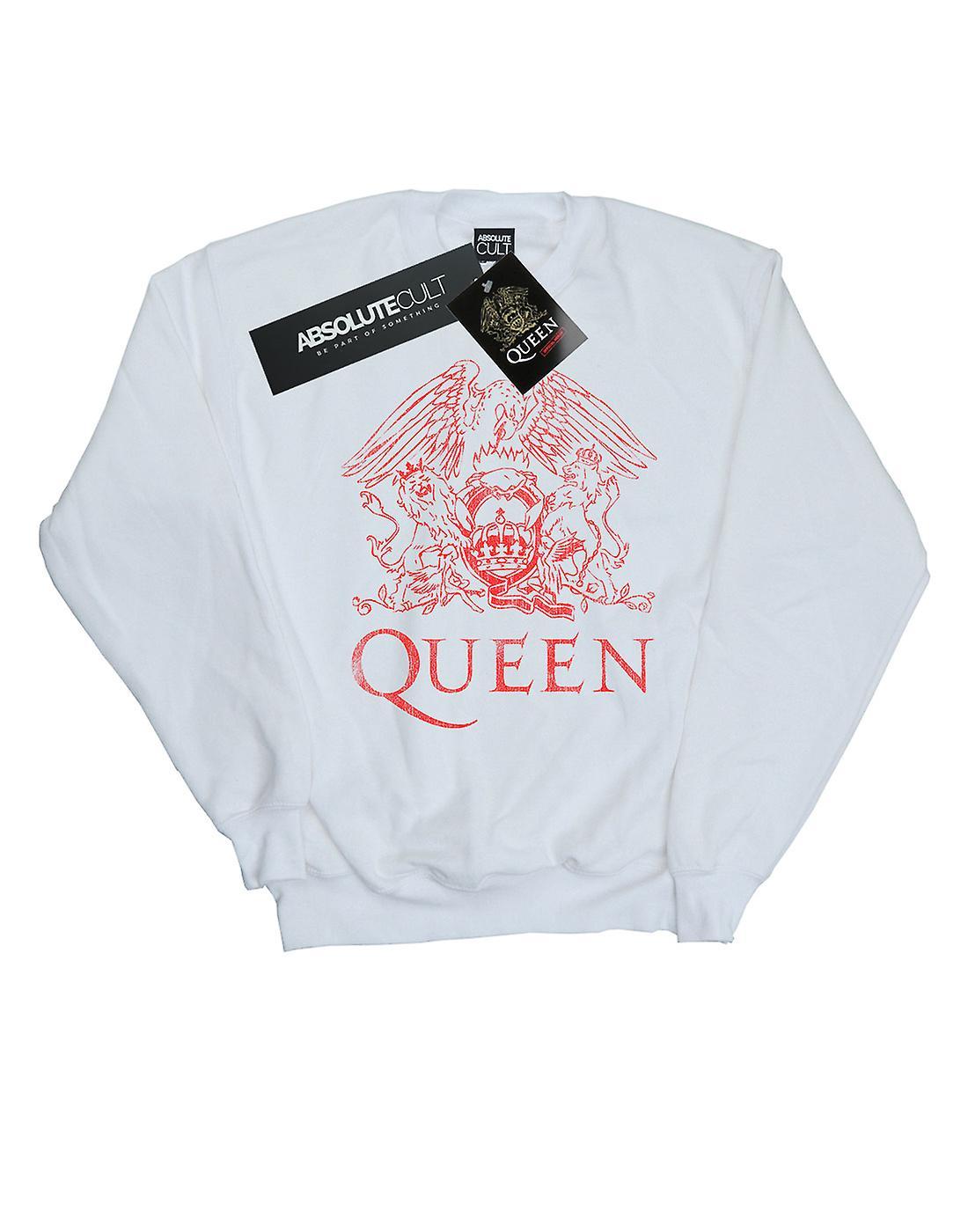 Queen Girls Distressed Crest Sweatshirt