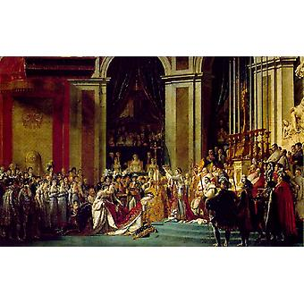 The Coronation of Napoleon and Josephine, Jacques-Louis David, 60x40cm
