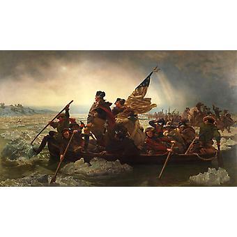 Washington traversant la Delaware, Emanuel Leutze, 60x40cm