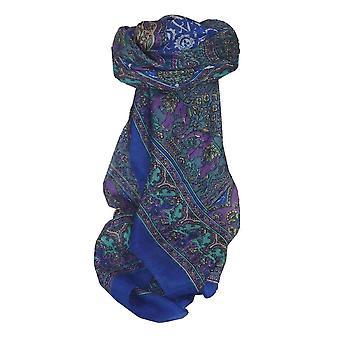 Maulbeere traditionelle quadratischen Seidentuch Ravali Blue von Pashmina & Seide