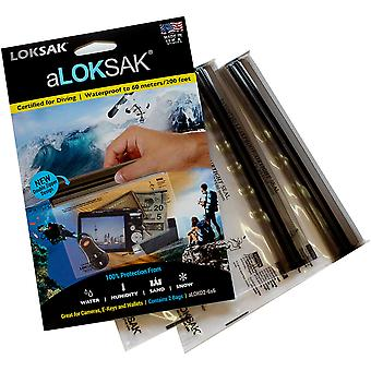 Loksak aLoksak Resealable Waterproof Storage Bags (2 Pack) - 6