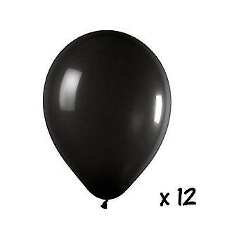 Ballon en de ballon accessoires 12 zwarte ballonnen