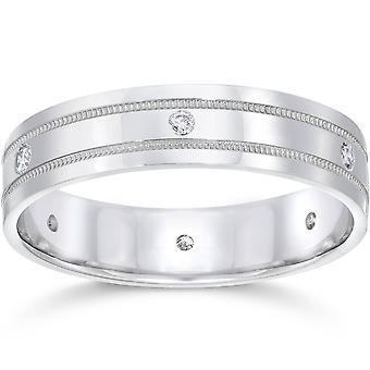 Herre Platinum Diamond Comfort Fit 6mm vielsesring