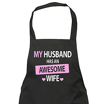 My Husband Has An Awesome Wife Black Apron