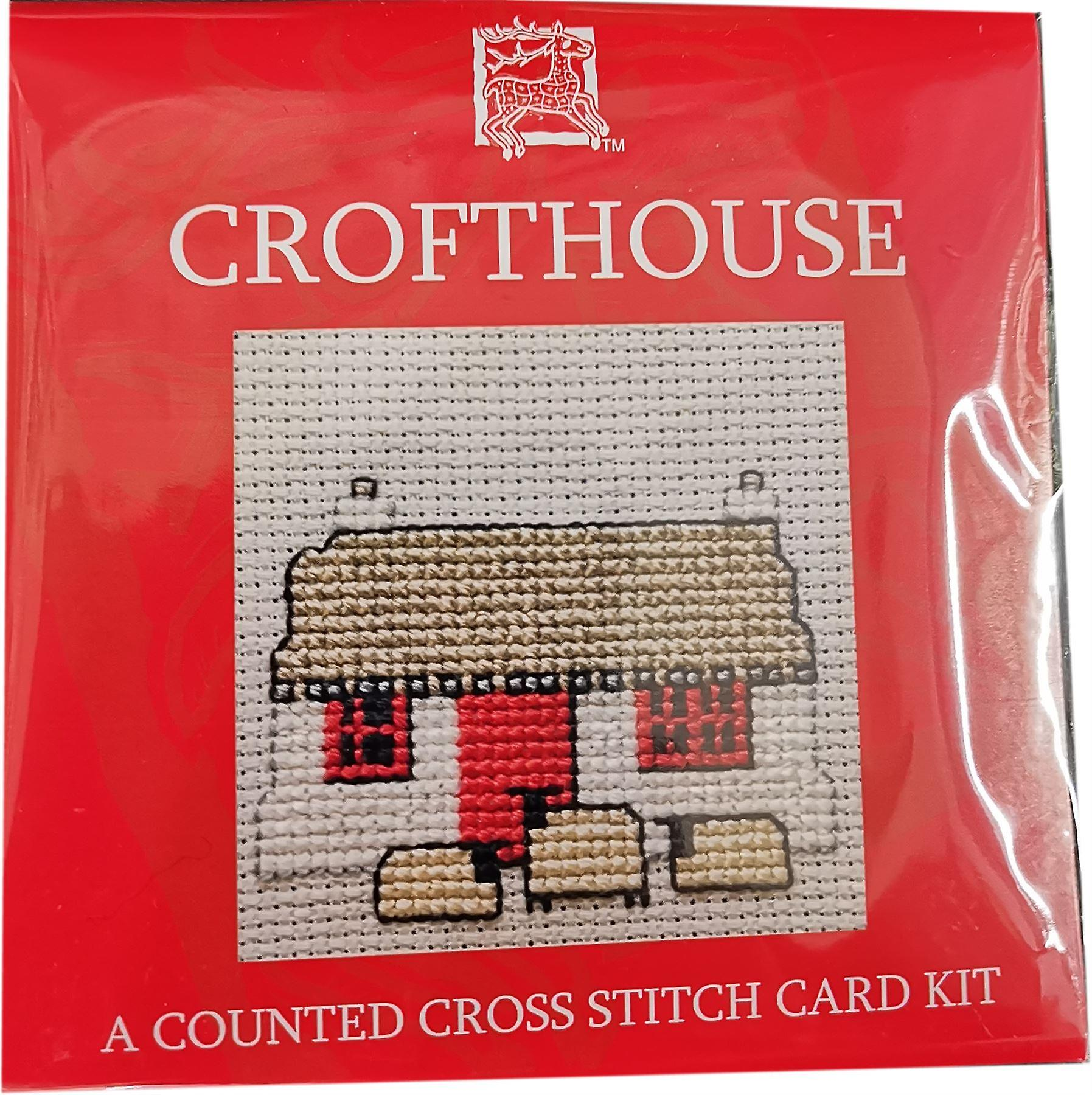 Textile Heritage Counted Cross Stitch Croft House Card