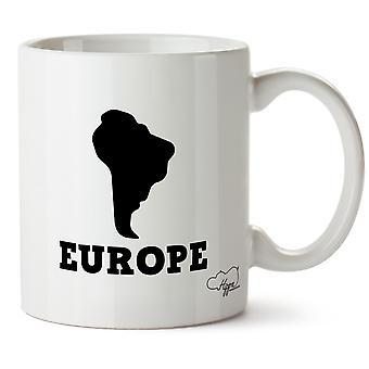 Géographie de l'Amérique de l'Hippowarehouse Europe blague 10 oz tasse Cup