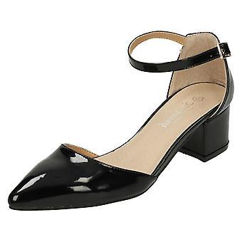 Ladies Savannah Mid Heel Waisted Shoes F9961