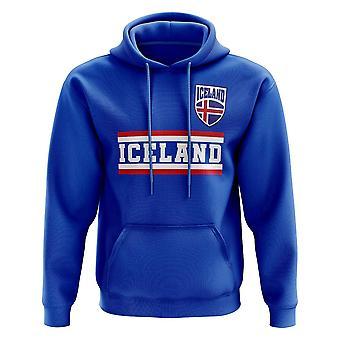 Island Core fotballen landet Hoody (blå)
