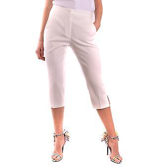 Moschino Ezbc015047 Women's White Cotton Pants