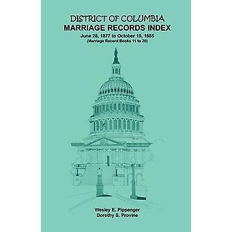 District of Columbia huwelijk Records Index 18771885 door Pippenger & Wesley E.